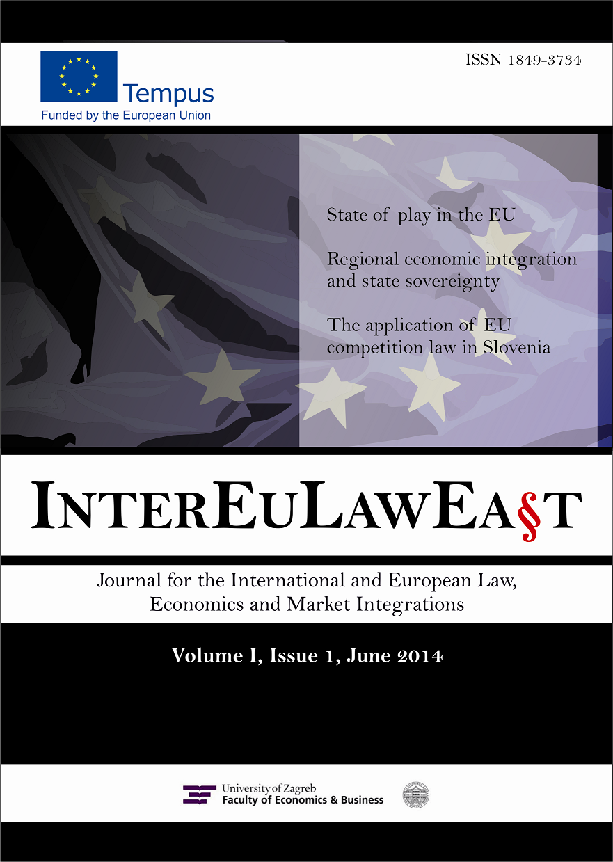 INTEREULAWEAST - Journal for International and European Law, Economics and Market Integrations