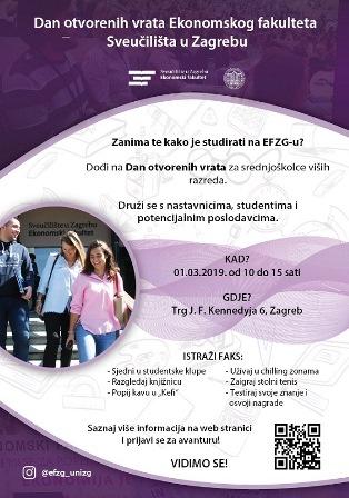 Dan Otvorenih Vrata Za Srednjoskolce Efzg Ekonomski Fakultet