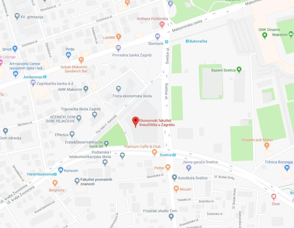 Location Efzg Ekonomski Fakultet Zagreb