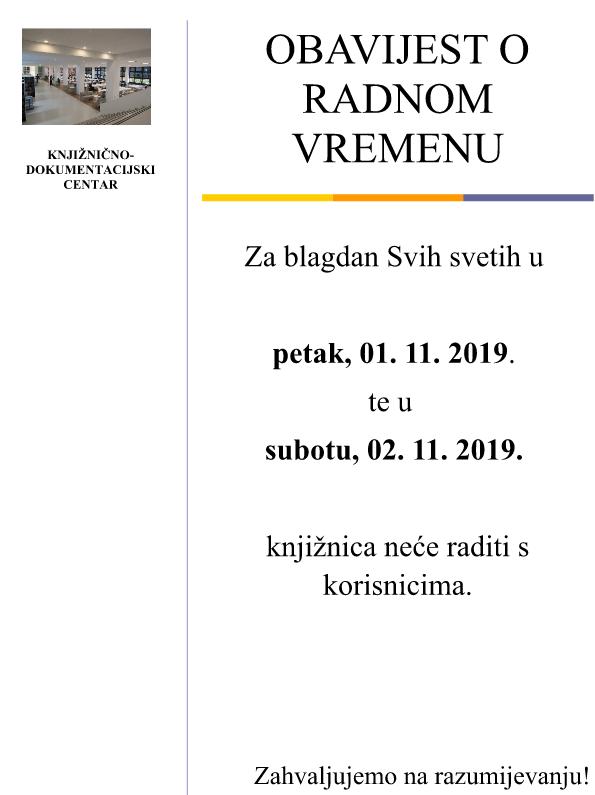 Obavijest O Radnom Vremenu Efzg Ekonomski Fakultet Zagreb